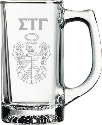 Sigma Tau Gamma Glass Engraved Mug