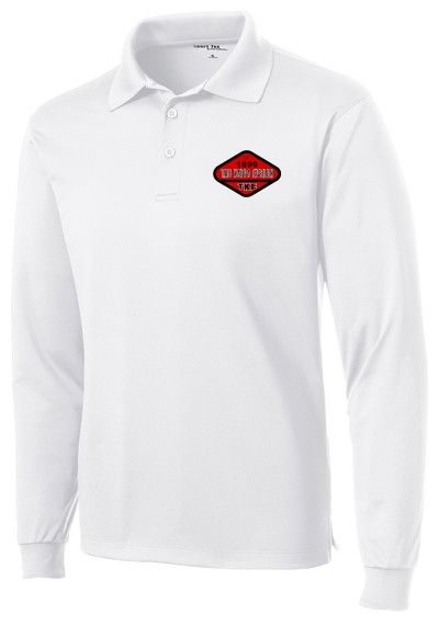 DISCOUNT-Woven Emblem Fraternity Long Sleeve Dry Fit Polo