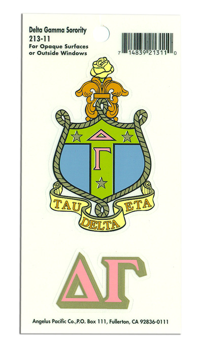 Delta Gamma Crest - Shield Decals