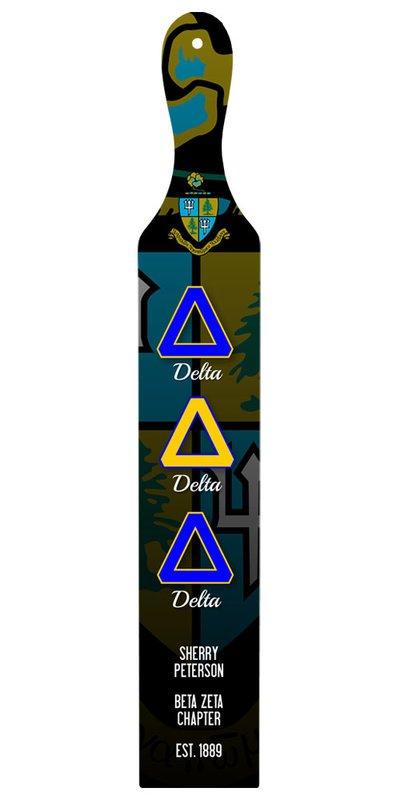 Delta Delta Delta Custom Full Color Paddle