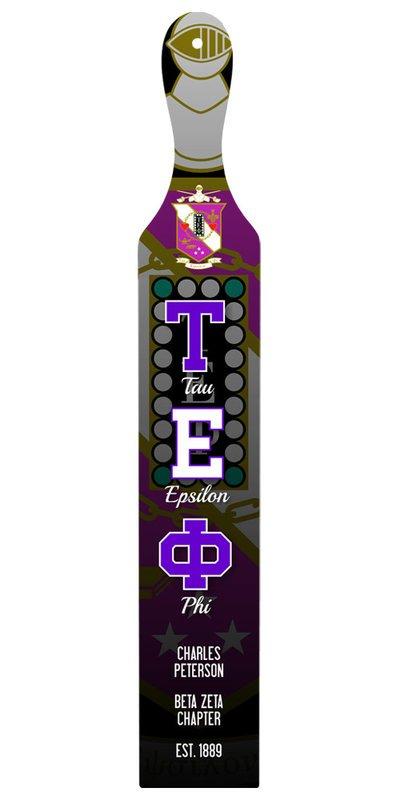 Tau Epsilon Phi Custom Full Color Paddle