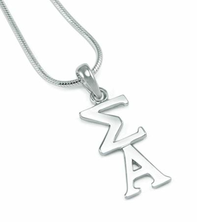 Sigma Alpha Sterling Silver Lavaliere