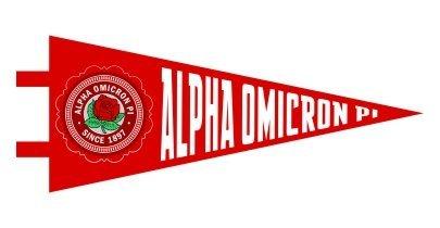Alpha Omicron Pi Pennant Decal Sticker