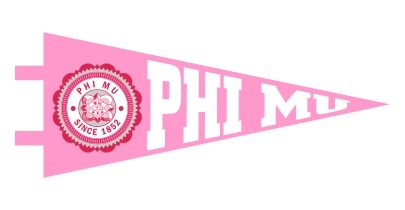 Phi Mu Pennant Decal Sticker