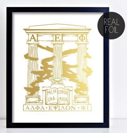Alpha Epsilon Phi Crest - Shield Foil Print