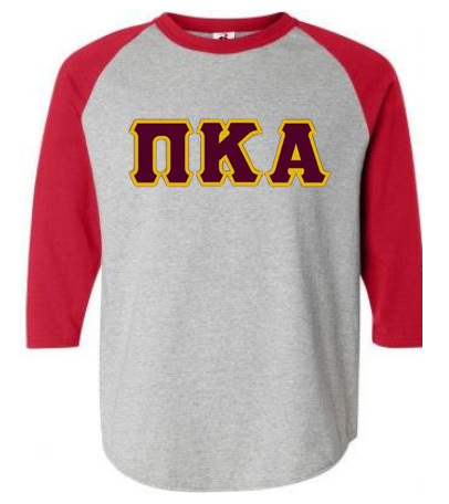 DISCOUNT- Pi Kappa Alpha Lettered Raglan T-Shirt