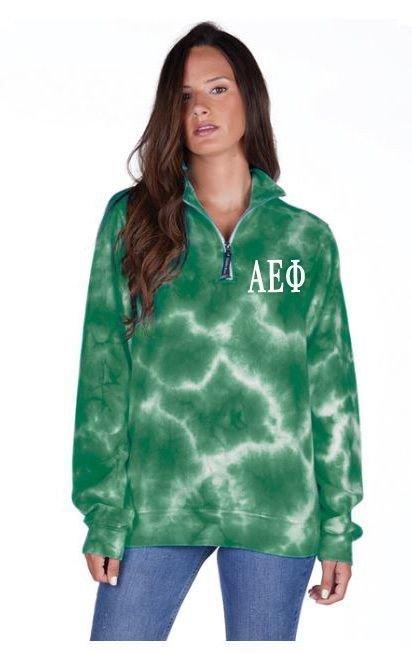 Alpha Epsilon Phi Crosswind Tie-Dye Quarter Zip Sweatshirt