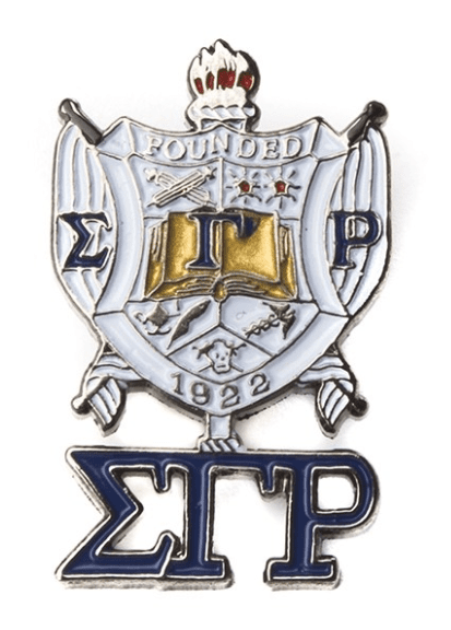 Sigma Gamma Rho 3D Color Shield w Letters Pins