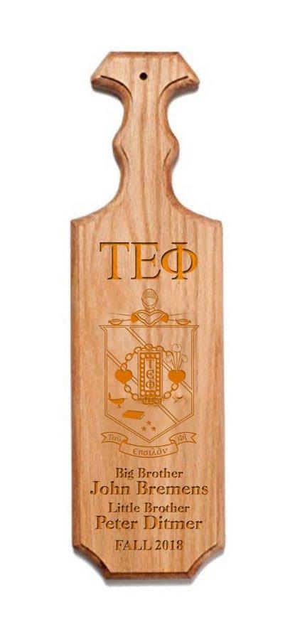Tau Epsilon Phi Traditional Greek Paddle