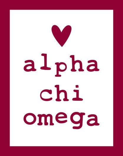 Alpha Chi Omega Simple Heart Sticker