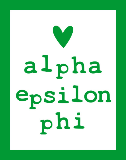 Alpha Epsilon Phi Simple Heart Sticker
