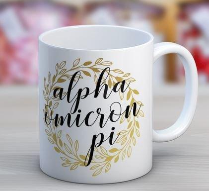 Alpha Omicron Pi Wreath Coffee Mug