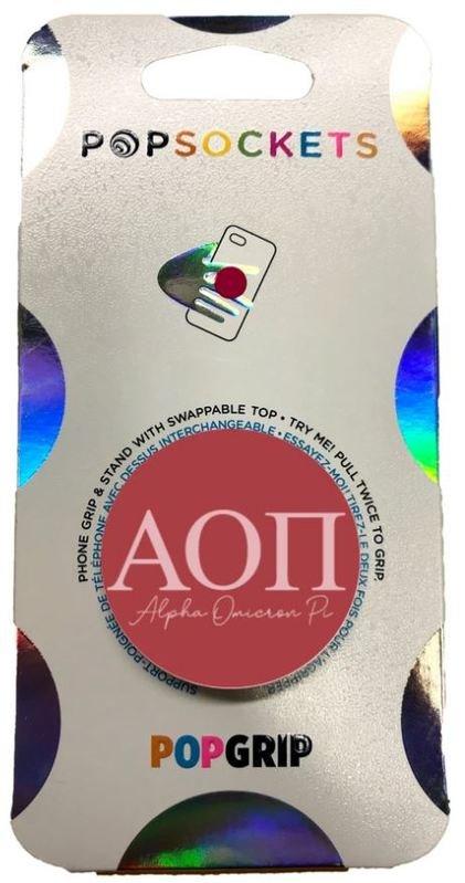 Alpha Omicron Pi 2-Color PopSocket