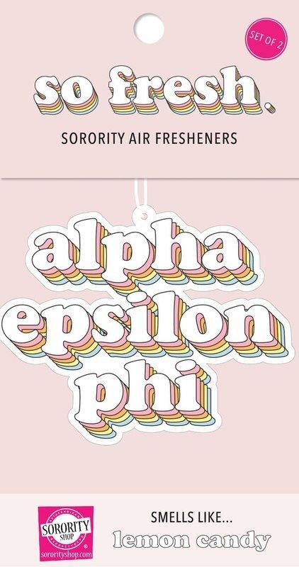 Alpha Epsilon Phi Retro Air Freshener (2 pack)
