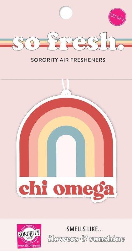 Chi Omega Rainbow Retro Air Freshener - Flowers & Sunshine Scent