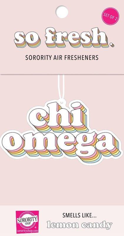 Chi Omega Retro Air Freshener (2 pack)