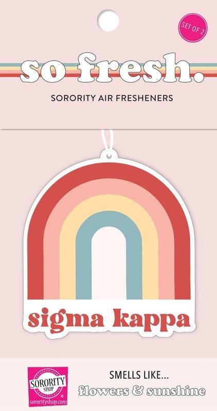Sigma Kappa Rainbow Retro Air Freshener - Flowers & Sunshine Scent
