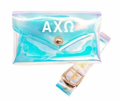 Sorority Holographic Belted Fanny Pack