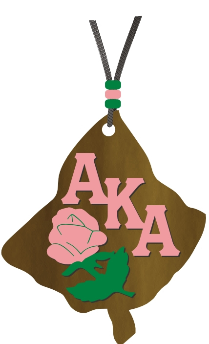 Alpha Kappa Alpha Wood Medallion Tiki, Leaf