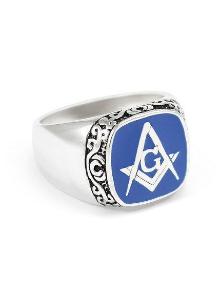 Mason / Freemason Raised Crest - Shield Ring