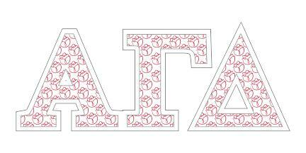 """Alpha Gamma Delta Mascot Greek Letter Sticker - 2.5"""" Tall"""