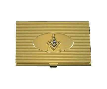Mason Crest Business Card Holder In Gold