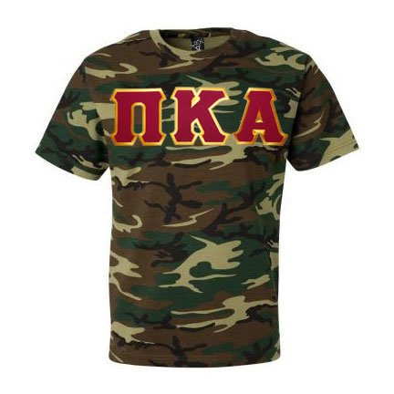 DISCOUNT- Pi Kappa Alpha Lettered Camouflage T-Shirt