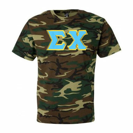 DISCOUNT- Sigma Chi Lettered Camouflage T-shirts