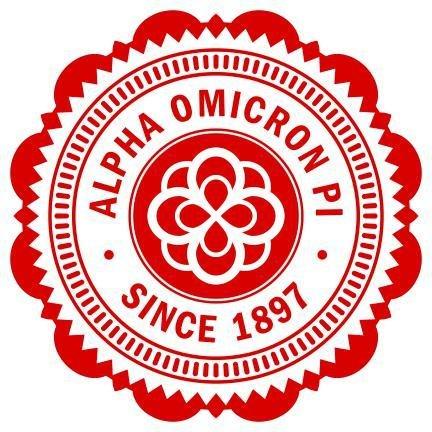 "Alpha Omicron Pi 5"" Sorority Seal Bumper Sticker"
