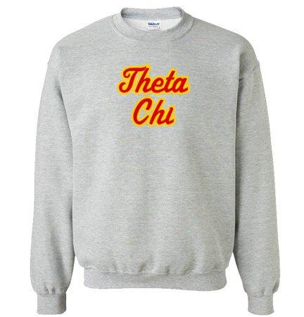 Theta Chi Twill Name Crewneck Sweatshirt