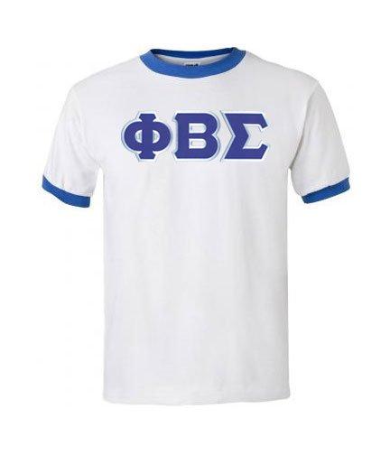 DISCOUNT- Phi Beta Sigma Lettered Ringer Shirt