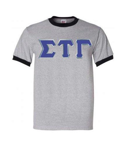 DISCOUNT- Sigma Tau Gamma Lettered Ringer Shirt