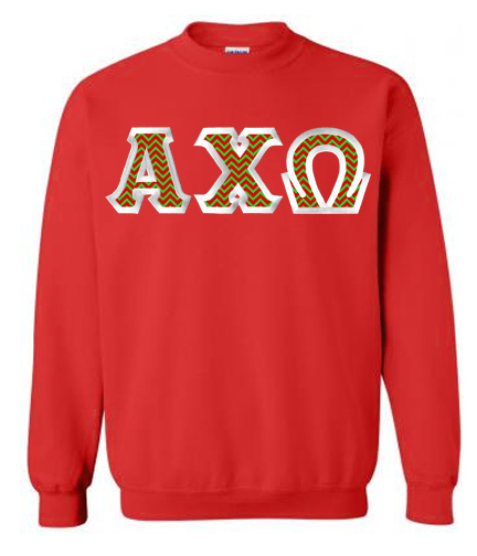 $25 Alpha Chi Omega Custom Twill Sweatshirt