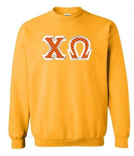 $25 Chi Omega Custom Twill Sweatshirt