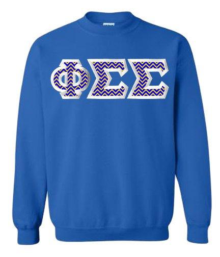 $25 Phi Sigma Sigma Custom Twill Sweatshirt