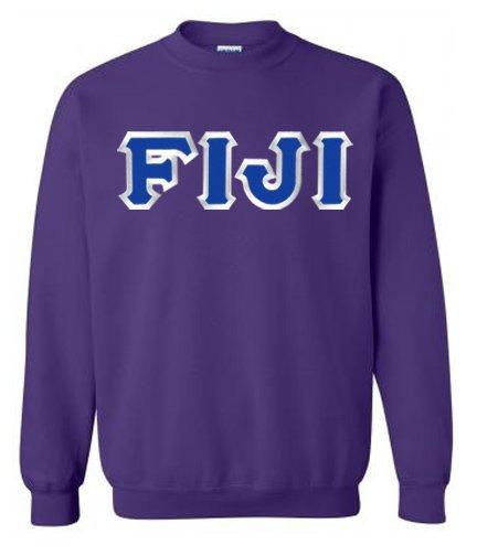 $25 FIJI Fraternity Custom Twill Crewneck Sweatshirt