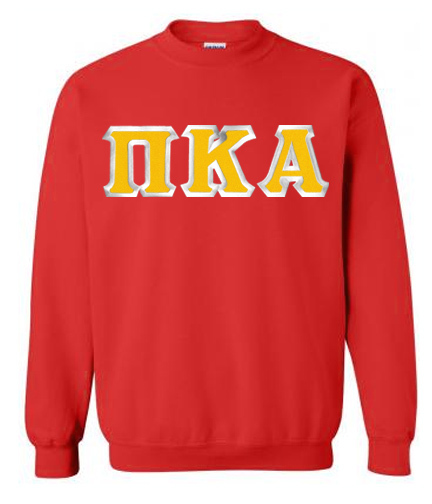 $29.99 Pi Kappa Alpha Custom Twill Crewneck Sweatshirt