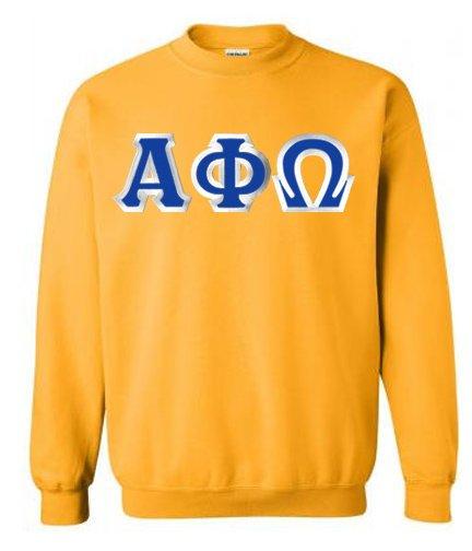 Alpha Phi Omega Sewn Lettered Crewneck Sweatshirt
