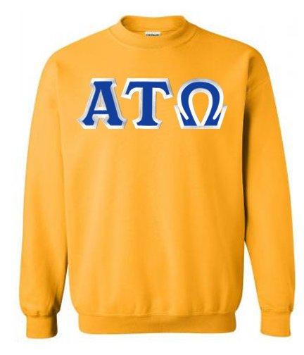 Alpha Tau Omega Custom Twill Crewneck Sweatshirt