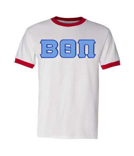 DISCOUNT- Beta Theta Pi Lettered Ringer Shirt