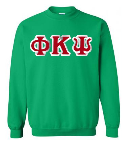 Phi Kappa Psi Custom Twill Crewneck Sweatshirt
