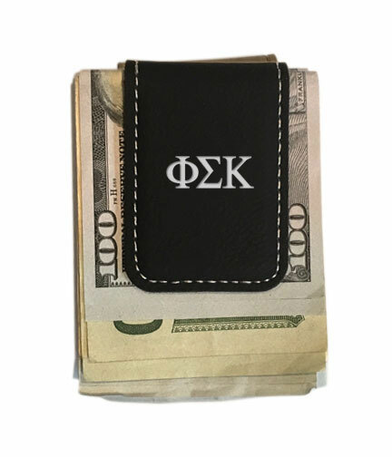 Phi Sigma Kappa Greek Letter Leatherette Money Clip