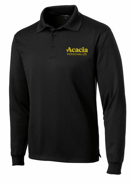 ACACIA- $35 World Famous Long Sleeve Dry Fit Polo