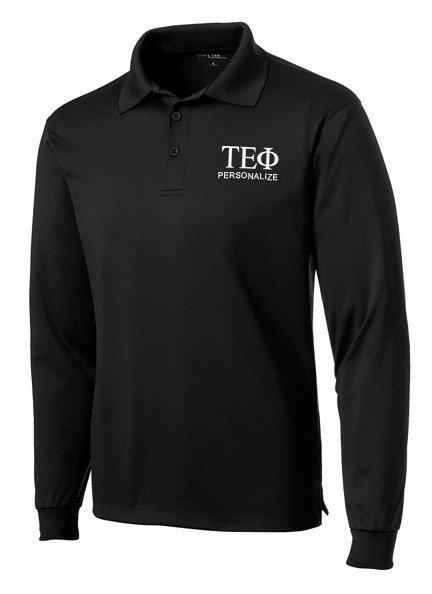 Tau Epsilon Phi- $35 World Famous Long Sleeve Dry Fit Polo