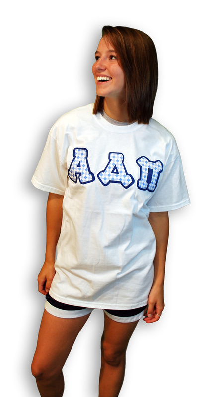 Sorority Lettered Tee - Bubbles