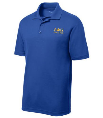 $30 World Famous Alpha Phi Omega Greek Contender Polo