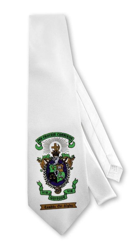 White Fraternity Neck Tie