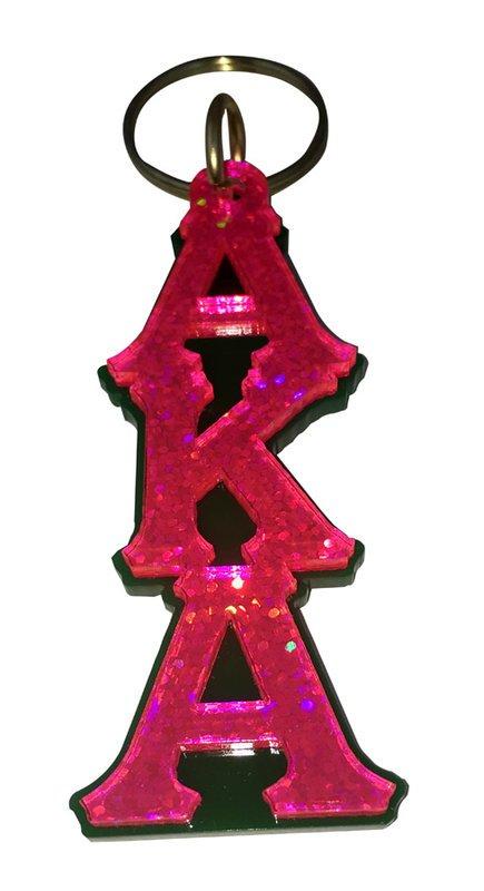 Alpha Kappa Alpha Large Letter Keychain, Sparkle