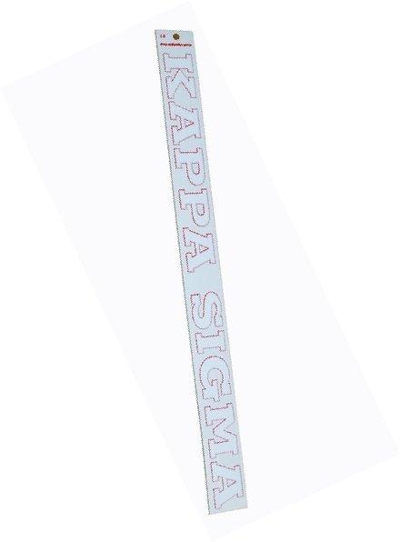 Kappa Sigma Long Window Decal