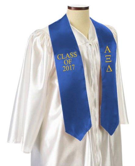 Alpha Xi Delta Embroidered Graduation Sash Stole
